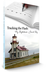 Tracking the Flash: My Lighthouse Travel Log book cover.